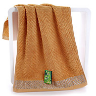 "1PC Bamboo Fiber Hand Towel 13"" by 29"" Strip Pattern Antisepsis Super Soft"