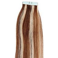 P8 / 613 # dobbelt trukket bånd i hair extensions 100% remy indian menneskehår sort brun blonde pu hud skud 20pcs forfremmelse