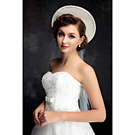 Women's Lace / Pearl / Tulle / Flax Headpiece-Wedding Hats 1 Piece Ivory Irregular 25