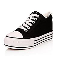 패션 스니커즈-야외 / 캐쥬얼 / 운동-여성의 신발-컴포트 / 둥근 앞코-캔버스-플랫폼-블랙 / 블루 / 그린 / 레드 / 화이트