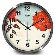 Elegant Garden Flowers Quartz Wall Clock