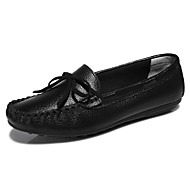 Women's Shoes Leather Spring / Summer / Fall Comfort Loafers Dress Flat Heel Others Black / Pink / White