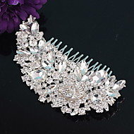 Women's Rhinestone / Crystal / Alloy Headpiece-Wedding / Special Occasion Hair Combs 1 Piece Silver