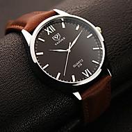 YAZOLE Herrn Kleideruhr Armbanduhr Quartz / Leder Band Bequem Schwarz Braun
