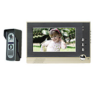 7 tommer farve video intercom doorbell håndfri intercom dørklokken spyhole bygning