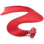neitsi 16 '' 50g 1g / s előre ragasztott keratin köröm tip emberi póthaj, színes kiemelés Remy haj