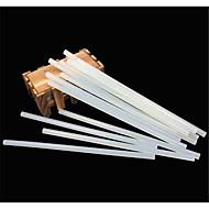 alta temperatura quente derreter adesiva cola borda atacado comprimento 190 milímetros diâmetro de 7mm translúcida 10pcs verde / package