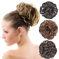 lockig Braut updo Chignon flauschigen Brötchen synthetischen Haarverlängerungen Stücke für schwarze Frauen mehr Farben