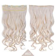 """Clip synthétique blonde dans les extensions de cheveux cheveux 24 """"(60cm) de # 60 120g longues 5clips bouclés ondulés resistent"""