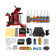 spiral tatovering maskin kit utstyr verktøy 7 spesielle fargepigmenter (håndtak farge tilfeldig levering)