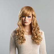 topo ondulado longo mel perucas de cabelo humano loiro