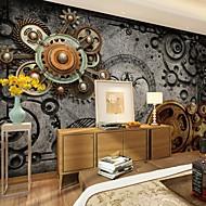 Floral Art Deco Papel de Parede Para Casa Retro Revestimento de paredes , Tela Material adesivo necessário Mural , Cobertura para Paredes