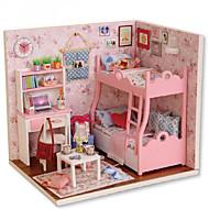 Met de hand geassembleerd model diy cabine creatief verjaardagscadeau