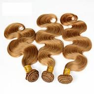 """3stk 14-28 """"Askepot hair extensions honning blonde brasiliansk krop bølge virgin remy menneskehår vævning bundter 7a farve 27"""