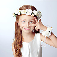 Kid's Full Floral Headband and Bracelet Set