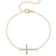 Armbänder Ketten- & Glieder-Armbänder Aleación Kreuzform Modisch / bezaubernd Alltag / Normal Schmuck Geschenk Goldfarben / Silber,1 Stück