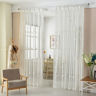 Two Panel The Sitting Room Dining-Room Of Europe Type Rural Style Embroidery Bedroom Gauze Shade