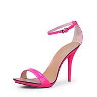 Women's Summer Platform Ankle Strap Leatherette Dress Stiletto Heel Platform Buckle Black Green Pink White Silver Gold