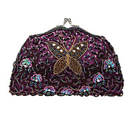Women retro beaded bag exquisite handcraft BaoZhu embroidery bag