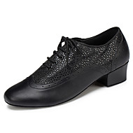 Sapatos de Dança(Preto / Marrom / Vermelho / Branco) -Masculino-Personalizável-Latina / Moderna