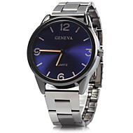Men's Casual Fashion Analog Silver Alloy Band Quartz Watch