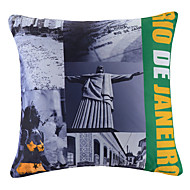 Polyester Pillow With Insert,Cities Retro 16x16 inch