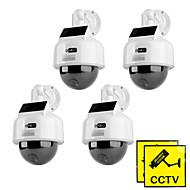 kingneo kd201s dummy solarni pogon speed dome kamere su simulirali 4pcs otvoreni sigurnosnih kamera bijela