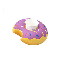Mini Floating Donut Inflatable Drink Cup Holder Cell Phone Holder Stand Pool Float Toys & Party Supplies
