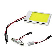 2db csutka girland t10 BA9S autó led panel fény 24 chips / smd autó olvasás belső világítás fehér alumínium héj (DC12V)