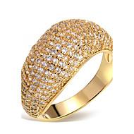 Široké prsteny Prsteny s kamenem Kubický zirkon Zirkon Měď Pokovená platina Pozlacené Módní Bílá Zlatá ŠperkySvatební Párty Halloween