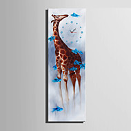 Moderno/Contemporâneo Animais Relógio de parede,Rectângular Tela 24 x 70cm(9inchx28inch)x1pcs/ 30 x 90cm(12inchx35inch)x1pcs Interior