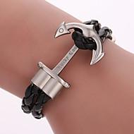 Armbänder Wickelarmbänder / Lederarmbänder Aleación / Leder Geometrische Form / Anker Modisch / Böhmen-Art / bezauberndParty / Alltag /