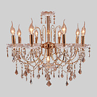 #(Max 40W) Chandelier ,  Modern/Contemporary Electroplated Feature for Candle Style Metal Living Room / Bedroom / Dining Room