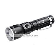 U'King ZQ-986 Lanternas LED Clipes e Suportes LED 1000LM Lumens 3 Modo Cree XM-L T6 Baterias não incluídas Foco Ajustável Recarregável