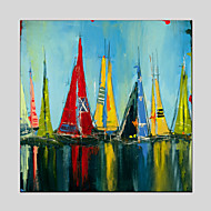 Abstract Seascape Canvas Material Oil Paintings with Stretched Frame Ready To Hang Size 70*70CM