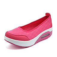 Women's Loafers & Slip-Ons Summer Round Toe / Flats Fabric Casual Flat Heel Others Black / Red / Gray /