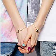 Kedje & Länk Armband 1 par,Moderiktig / Förtjusande Star Shape Gyllene Legering Smycken Gåvor