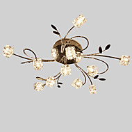 Max 20W Flush Mount ,  Modern/Contemporary Others Feature for Crystal Metal Living Room / Dining Room / Kitchen