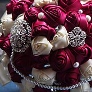 """Svatební kytice Kulatý Růže Kytice Svatba Taft 50 cm (cca 19,7"""")"""
