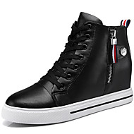 Women's Sneakers Spring / Fall / Winter Comfort Synthetic Athletic / Casual Flat Heel Lace-up Black / White Sneaker