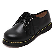 Women's Oxfords Fall Creepers / Round Toe PU Casual Platform Lace-up Black Others
