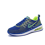 Women's Sneakers Spring Fall Comfort PU Athletic Flat Heel Lace-up Black Blue Green Orange
