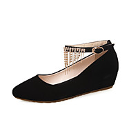 Women's Buckle Imitated Suede Pointed Closed Toe Low Heels Solid Pumps-Shoes