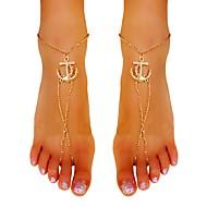 Dames Enkelring /Armbanden Verguld Legering Uniek ontwerp Sexy Kwasten Modieus Sieraden Gouden Vrouwen Sieraden Feest Dagelijks Causaal1
