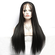 76cm 30inch  Heat Resistant Long Straight Black Color Women Fiber Fashion Synthetic Lace Front Wig Natural Lace Wigs
