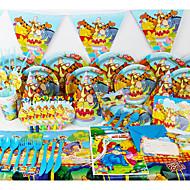 luxusním Medvídek Pú 78pcs narozeniny ozdoby dětský evnent zásoby strany party dekorace 6 lidé používají