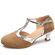 Obyčejné-Dámské-Taneční boty-Latina / Moderní-Semiš-Vysoký úzký-Černá / Hnědá