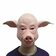 מסכות חזיר cosplay פנים מלאים כלי ליל כל קדושי מפלגת פסטיבל צד גומי תחפושת מצחיק מלא ראש מסכת שמלת אבזרים צדו