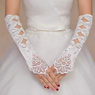 K lokti Bez prstů Rukavice Nylon Pro nevěstu Jaro Nášivky