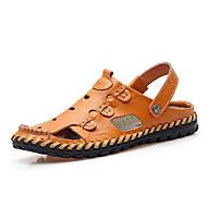 Men's Sandals Summer Comfort / Flats Synthetic Casual Flat Heel Others Black / Gold / Khaki Walking